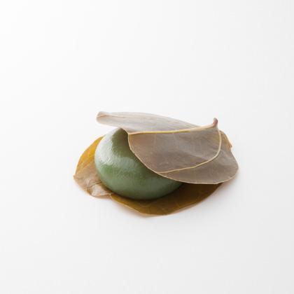 がめの葉饅頭(よもぎ)